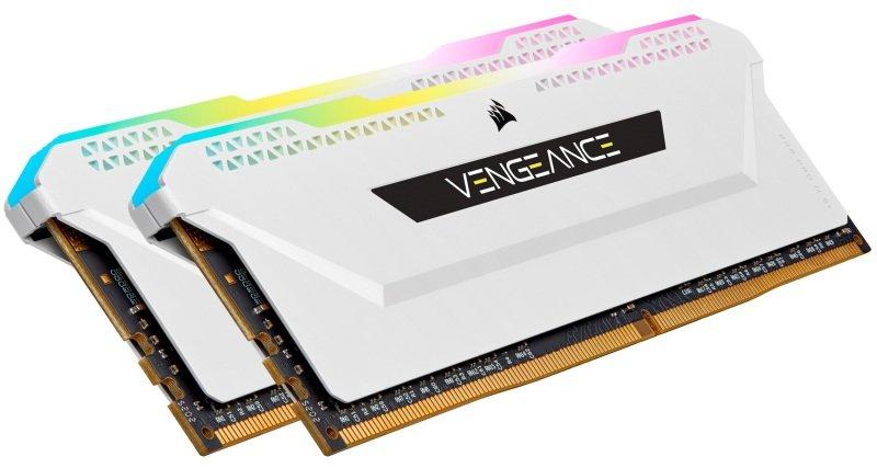 CORSAIR VENGEANCE RGB PRO 16GB (2x8GB) DDR4 3600 (PC4-28800) C18 1.35V Desktop Memory - White