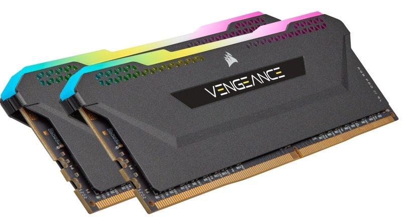 CORSAIR VENGEANCE RGB PRO SL 32GB (2x16GB) DDR4 3200 (PC4-25600) C16 1.35V Desktop Memory - Black