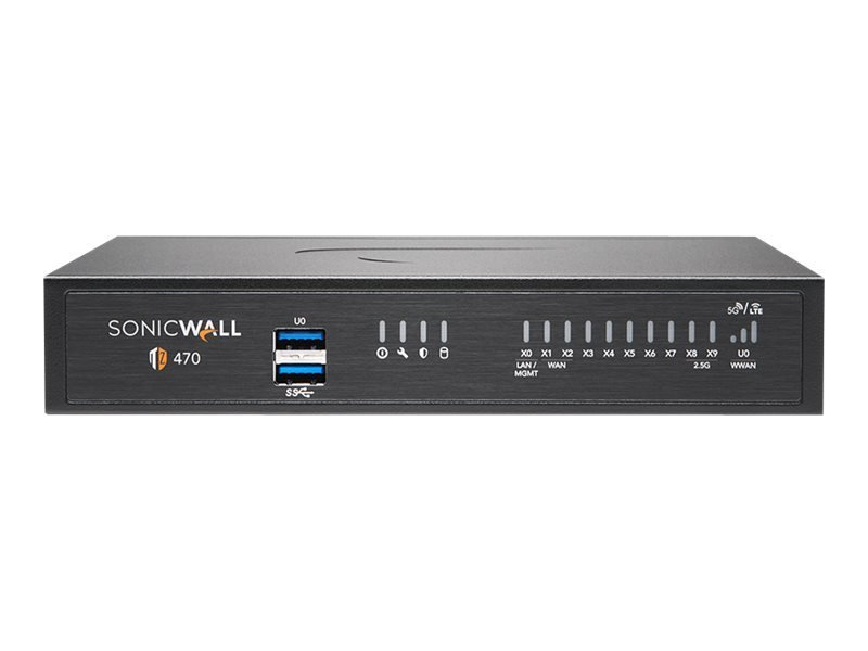SonicWall TZ470 - Advanced Edition - Security Appliance - with 1 Year TotalSecure