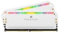 CORSAIR DOMINATOR PLATINUM RGB 16GB (2x8GB) DDR4 3200 (PC4-25600) C16 1.35V AMD Optimized Memory - White