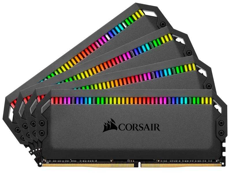 CORSAIR DOMINATOR PLATINUM RGB 32GB (4x8GB) DDR4 3200 (PC4-28800) C16 1.35V Desktop Memory - Black