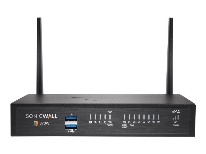 SonicWall TZ370W - Essential Edition - Security Appliance - with 1 Year TotalSecure