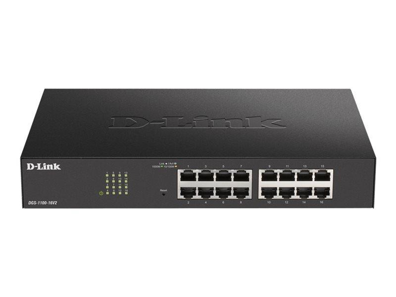 D-Link DGS 1100-16V2 - Switch - 16 Ports - Smart - Rack-mountable 1U