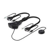 Belkin F1DN102V-3EA - Secure 2Port VGA KVM Switch w/Aud Remote