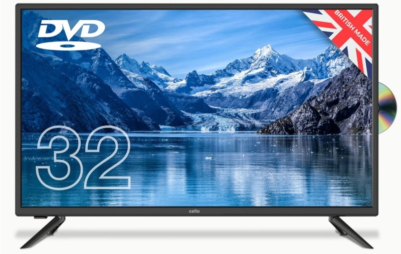 "Cello C3220F 32"" HD LED TV With DVD Player and Freeview T2 HD"