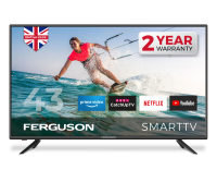 """Ferguson F4320RTS 43"""" Full HD LED Smart TV with Built-in Freeview DVB-T2 HD channels"""