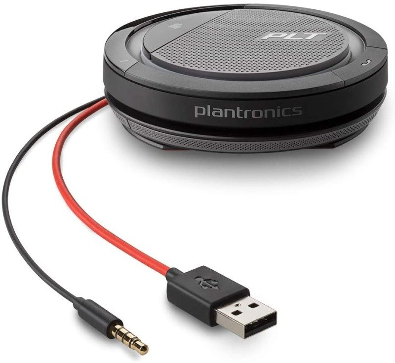 Plantronics CALISTO 5200 USB-A + 3.5 mm Conference Device with Microphone and Speaker, Black