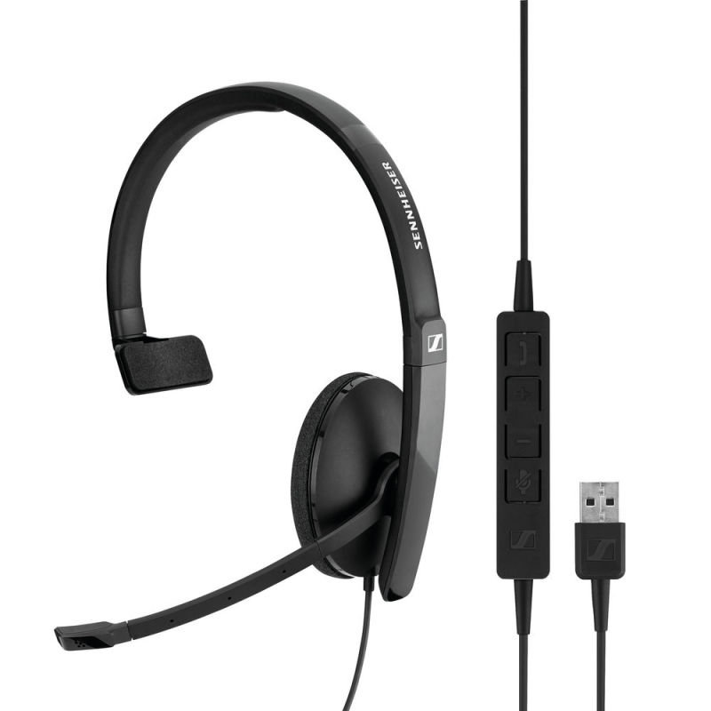 Sennheiser SC130 USB Monaural Headset Black