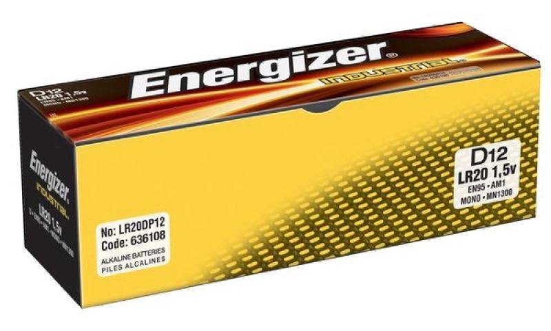 Energizer Industrial Alkaline C Batteries - 12 Pack