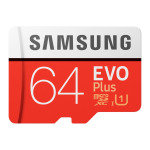 Samsung EVO Plus 64GB 4K Ready MicroSDXC Memory Card UHS-I U1 with SD Adaptor