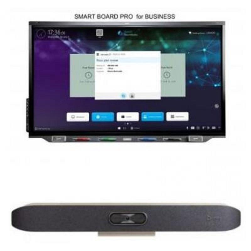 SMART Board SBID-7286R-P - 86'' Interactive Display & Poly Studio X50 4K VC
