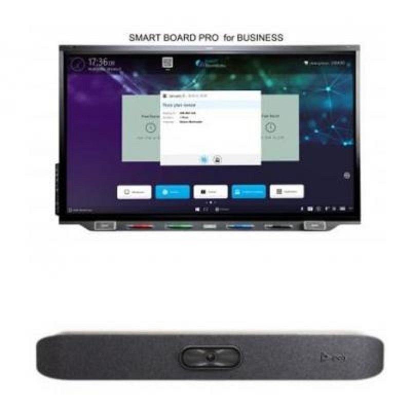 SMART Board SBID-7275R-P - 75'' Interactive Display & Poly Studio X30 4K VC