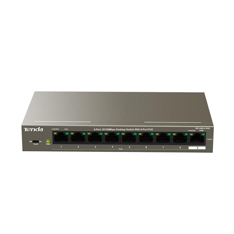 Tenda TEF1109P-8-102W - 8 Port PoE Network Switch