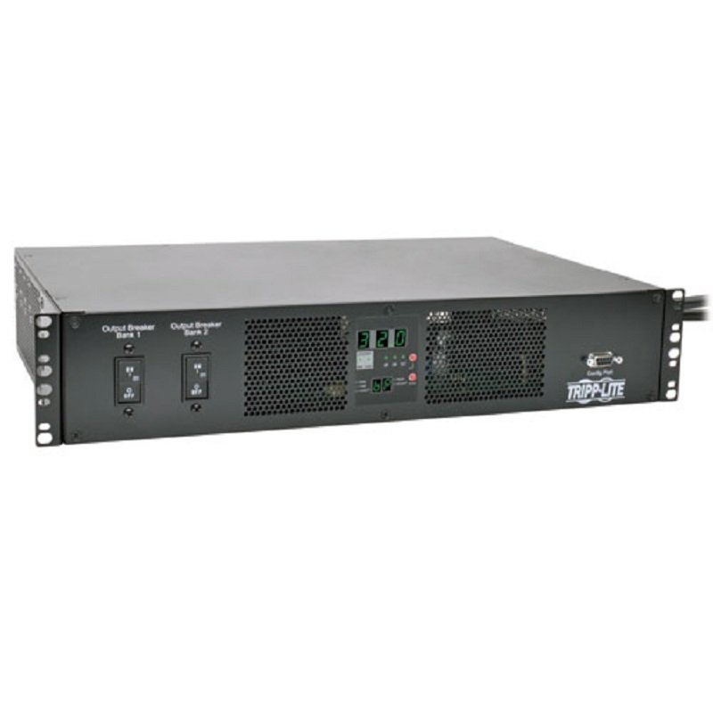 Tripp Lite TAA-Compliant 7.4kW Single-Phase ATS/Metered PDU, 230V Outlets (16 C13 & 2 C19)