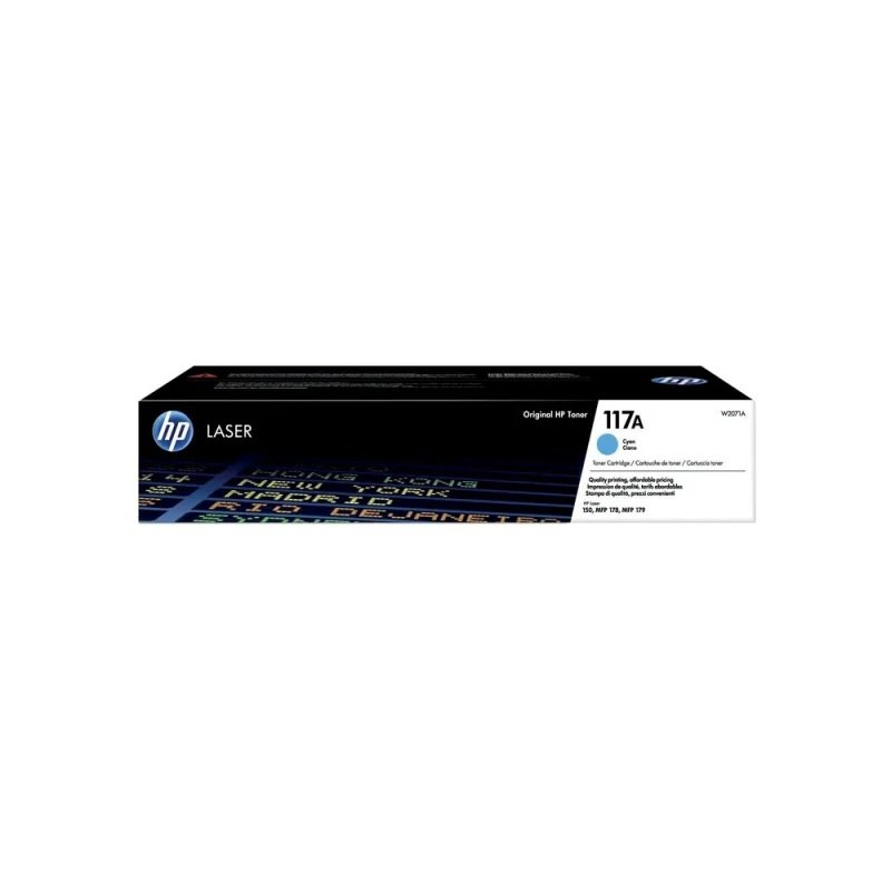 HP 117A Cyan Original Laser Toner Cartridge W2071A
