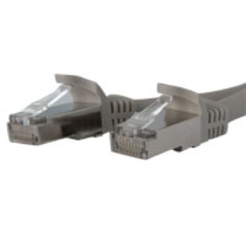 StarTech.com Shielded Cat6a Molded STP Patch Cable 2.1m Grey