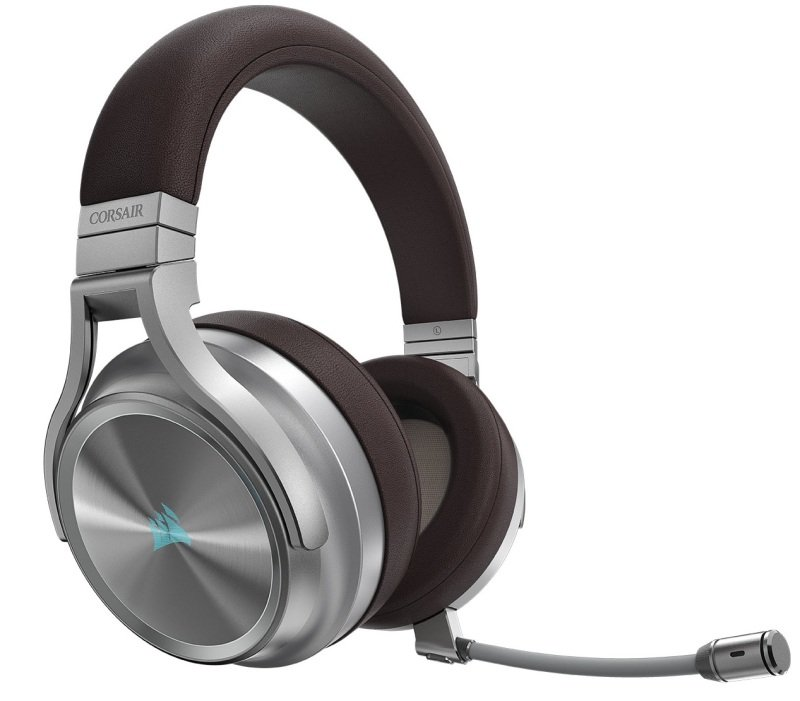 EXDISPLAY Corsair Virtuoso RGB Wireless SE High-Fidelity Gaming Headset with 7.1 Surround Sound - Espresso