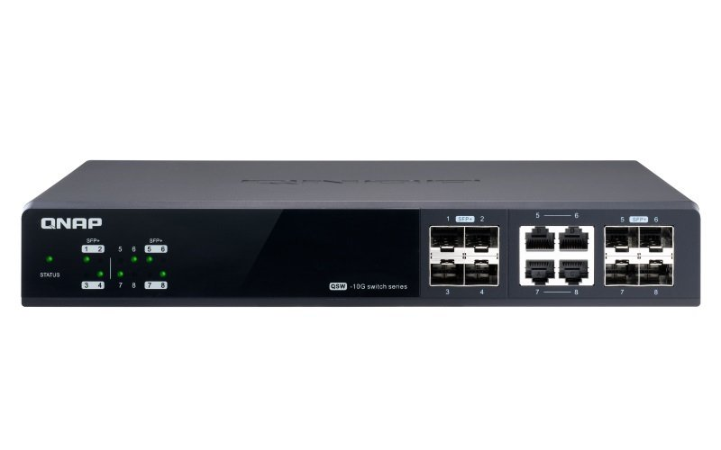 QNAP QSW-M804-4C 8 Port 10GbE SFP+ Managed Switch