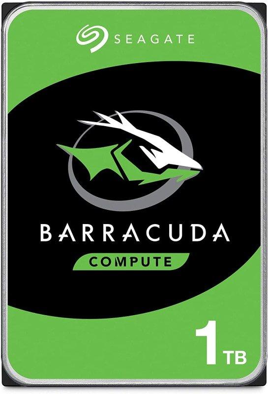 "Seagate BarraCuda 1TB Desktop Hard Drive 3.5"" SATA III 6GB's 7200RPM 64MB Cache"