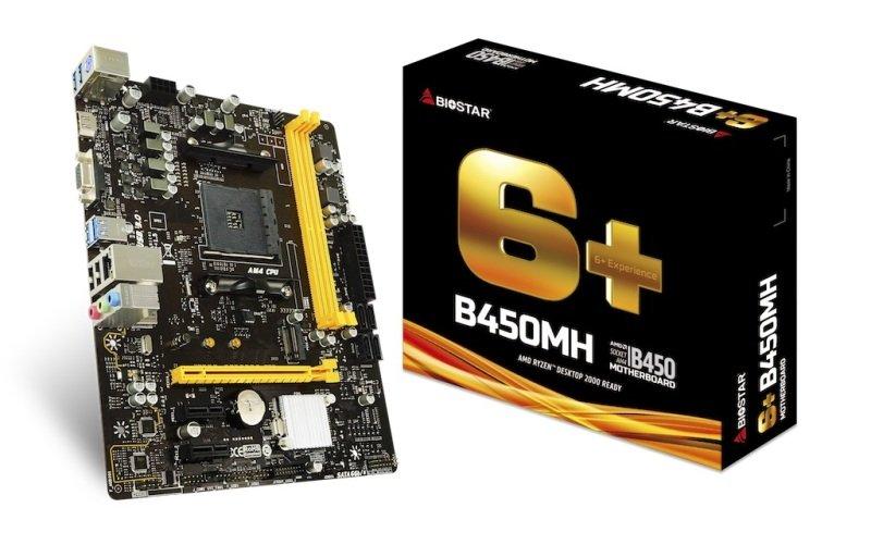 EXDISPLAY BioStar B450MH AM4 DDR4 mATX Motherboard