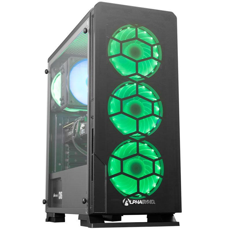 AlphaSync RTX 3070 AMD Ryzen 7 16GB RAM 1TB HDD 480GB SSD Gaming Desktop PC