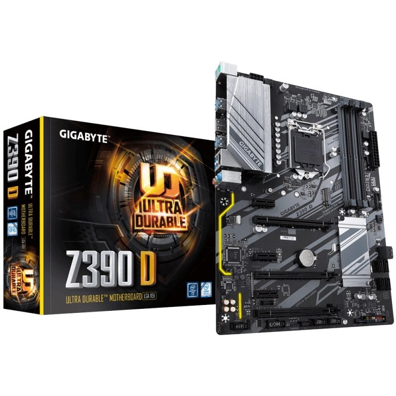 EXDISPLAY Gigabyte Intel Z390 D Socket 1151 ATX Motherboard
