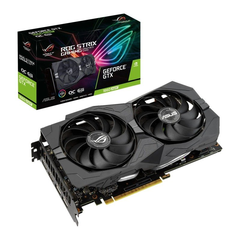 EXDISPLAY ASUS GeForce GTX 1660 SUPER ROG STRIX 6GB OC Graphics Card