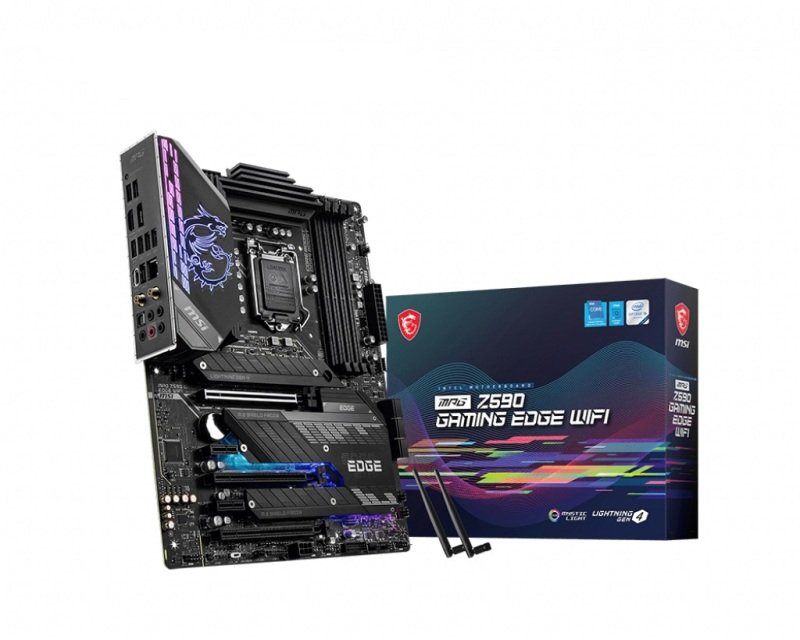 MSI MPG Z590 5333 MHz GAMING EDGE WIFI ATX Motherboard, 10th or 11th Generation Support
