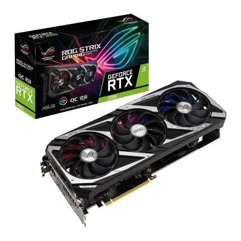 ASUS GeForce RTX 3060 12GB ROG STRIX OC Ampere Graphics Card