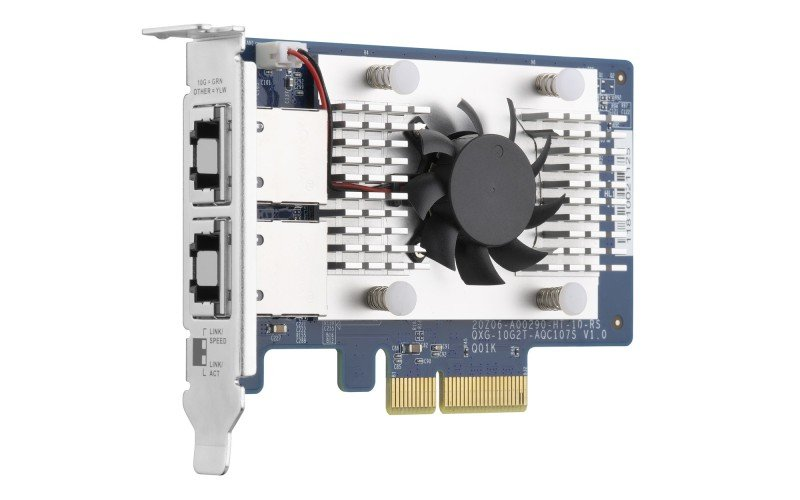 QNAP QXG-10G2T-107 Dual-port, 5-Speed 10 GbE Network Expansion Card
