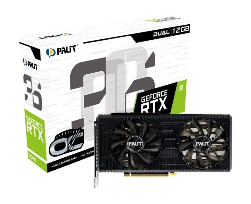 Palit GeForce RTX 3060 12GB Dual OC Ampere Graphics Card