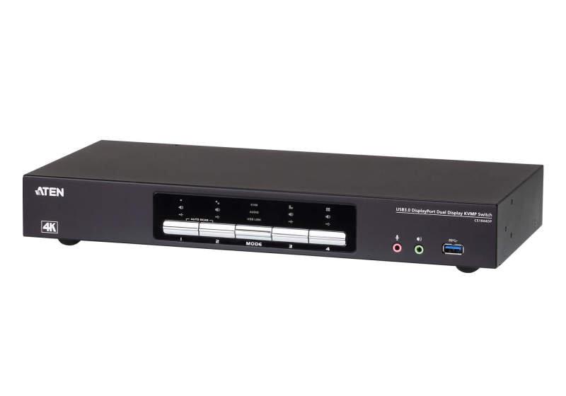 Aten 4-Port USB 3.0 4K DisplayPort Dual Display KVMP Switch