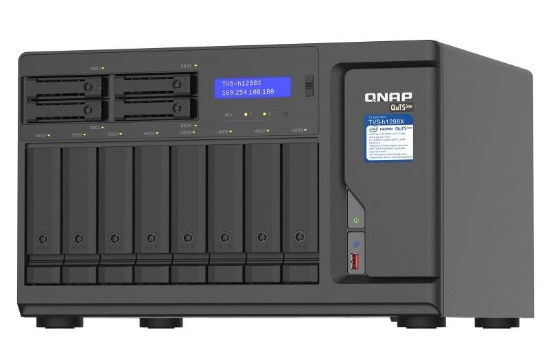 QNAP TVS-h1288X-W1250-16G 12 Bay Desktop NAS Enclosure with 16GB RAM