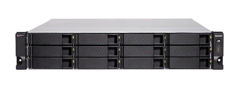 QNAP TS-h1283XU-RP-E2236-128G 12 Bay Rack Enclosure with 128GB RAM