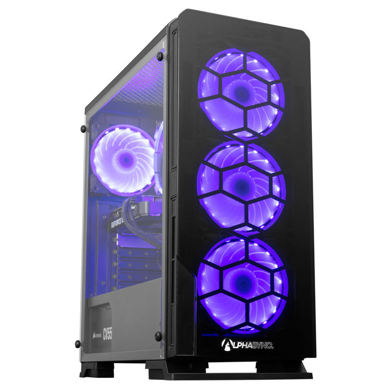 Image of AlphaSync Gaming Desktop PC, Intel Core i5-10400F, 16GB DDR4, 1TB HDD, 480GB SSD, NVIDIA GeForce GTX 1660 Super, WIFI, Windows 10 Home