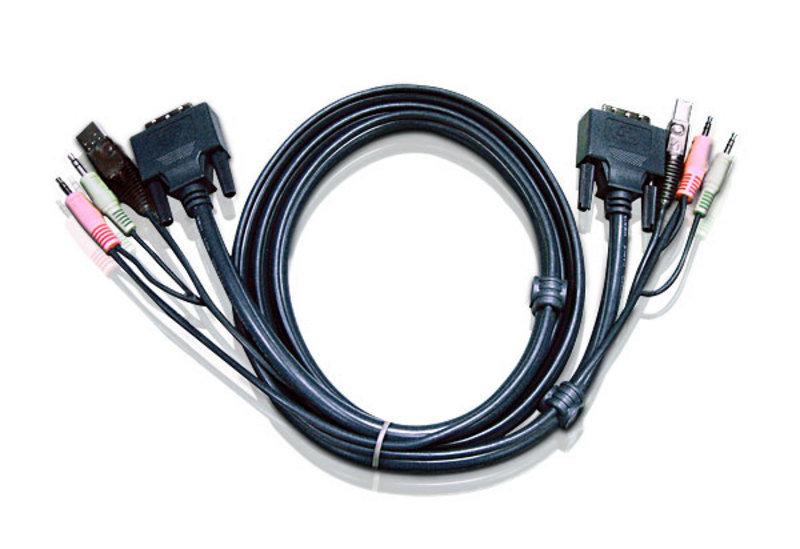 Image of Aten 1.8M USB DVI-D Single Link KVM Cable