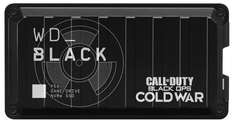 WD BLACK 1TB P50 Game Drive SSD Call of Duty Edition Black