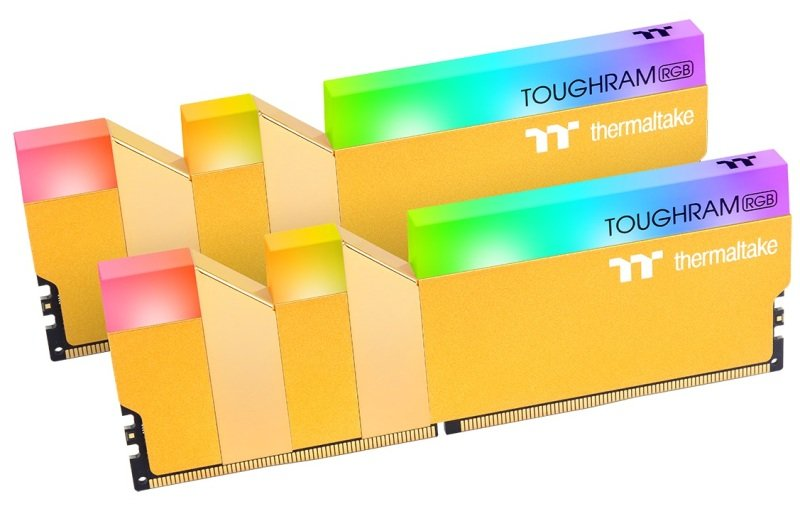 Thermaltake TOUGHRAM RGB Metallic Gold 16GB (2x8GB) DDR4 3600MHz C18 Memory