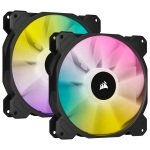 CORSAIR iCUE SP140 RGB ELITE Performance 140mm PWM Dual Fan Kit with Lighting Node CORE