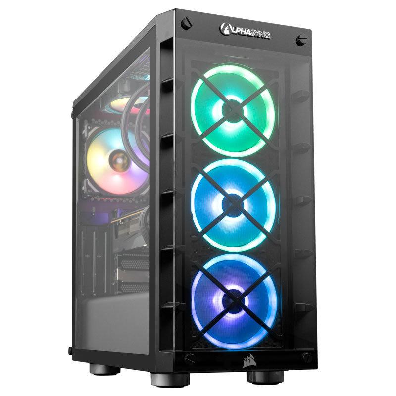 AlphaSync RX 6800XT AMD Ryzen 7 16GB RAM 2TB HDD 1TB SSD Gaming Desktop PC