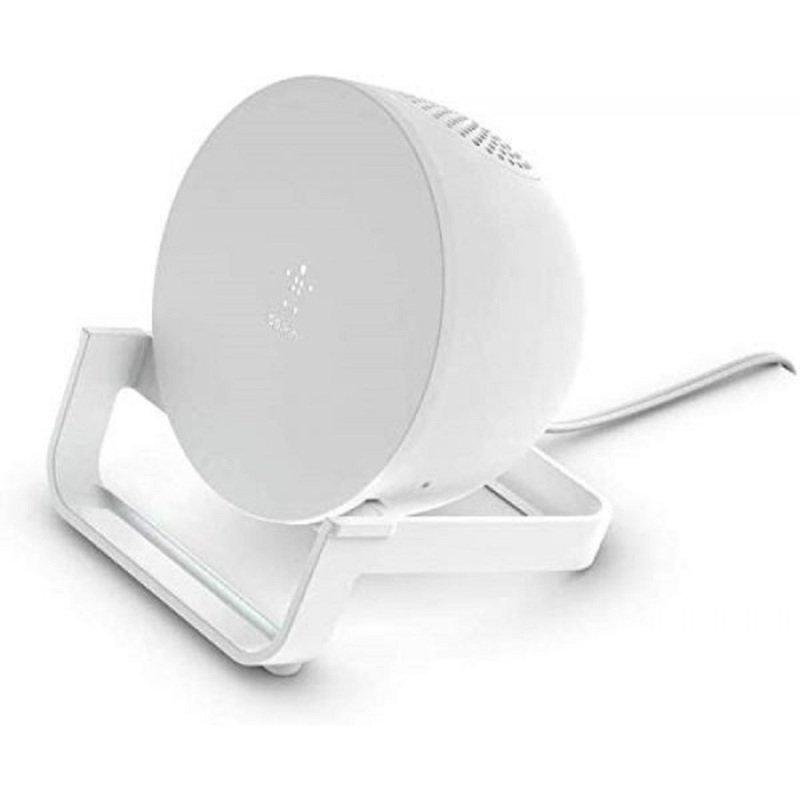 Belkin BoostCharge Wireless Charging Stand + Speaker White