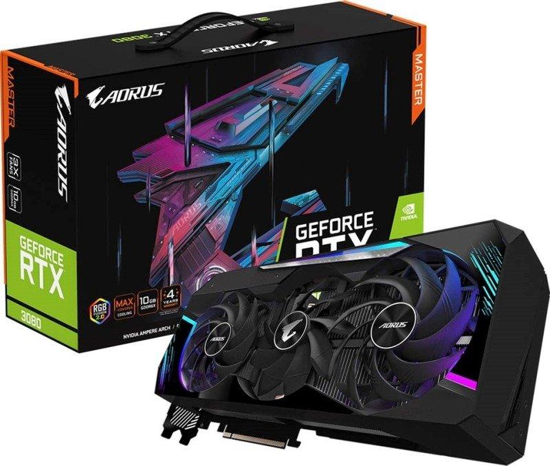 Gigabyte GeForce RTX 3080 10GB GDDR6X AORUS MASTER Ampere Graphics Card