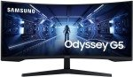"""Samsung 34"""" Odyssey G5 WQHD Gaming Monitor with 1000R curved screen"""