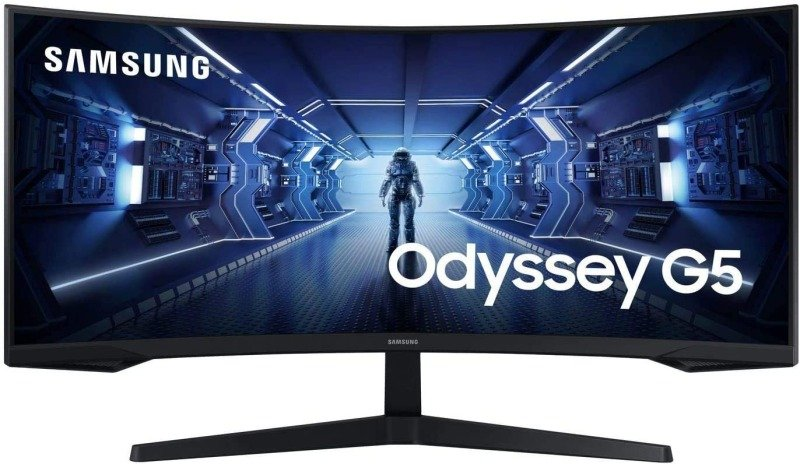 "Image of Samsung 34"" Odyssey G5 WQHD Gaming Monitor with 1000R curved screen"