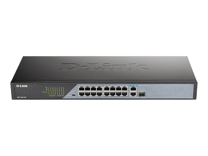 D-Link DSS 100E-18P - Switch - 18 Ports - Unmanaged - Rack-mountable