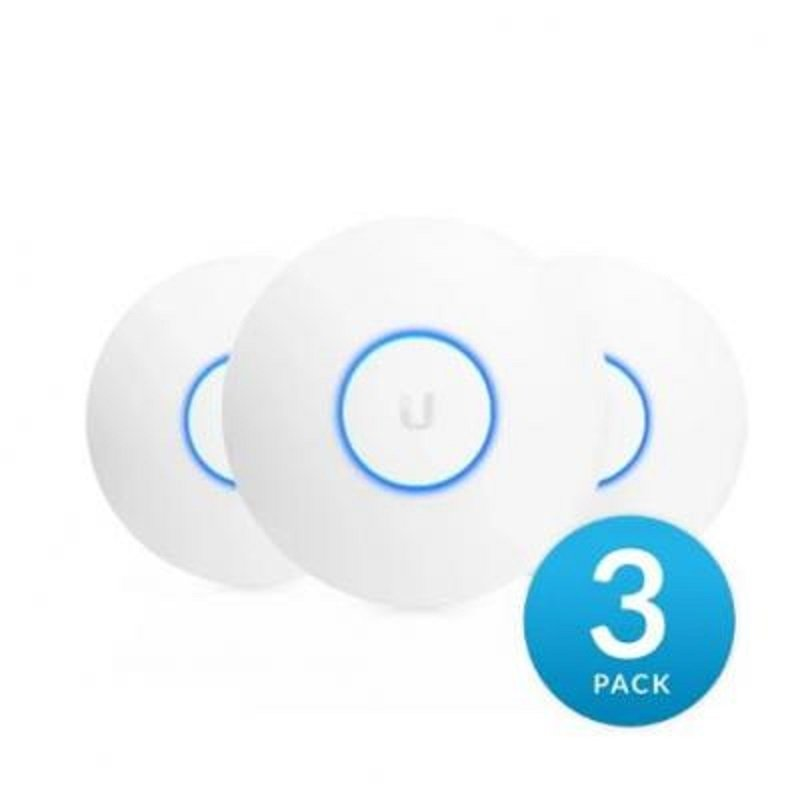 Ubiquiti Networks UniFi nanoHD - 802.11ac Wave 2 4x4 Dual Band 1x1000-T Ethernet - 3 Pack (no Poe In