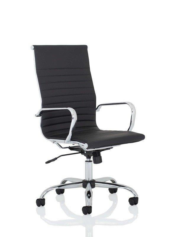 Nola High Back Black Bonded Leather Executive Chair