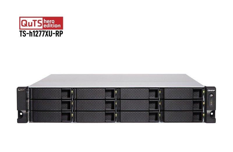 QNAP TS-h1277XU-RP-3700X-32G - 12 Bay Rack Enclosure with 32GB RAM