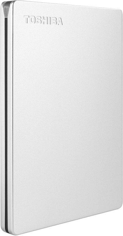Toshiba Canvio Slim 2TB Aluminium Portable External Hard Drive USB 3.0 for PC, Xbox, PS4