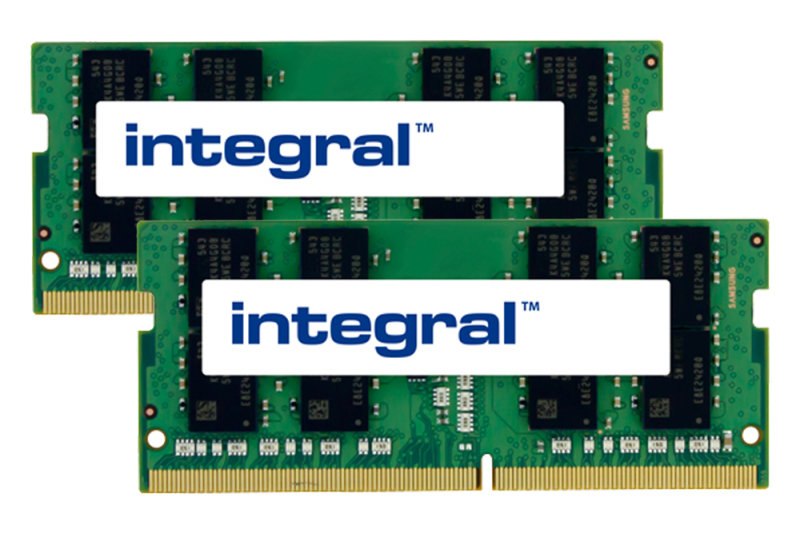 Integral 16GB Kit (2 x 8GB) DDR4 2666MHz PC4-21300 1.2V CL19 Sodimm